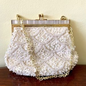 Vintage Beaded &Mother Of Pearl Fine Art Bag Co NY